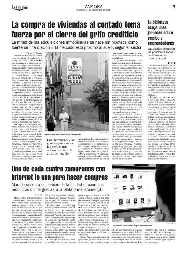 El comercio electrónico (Opinión de Zamora)