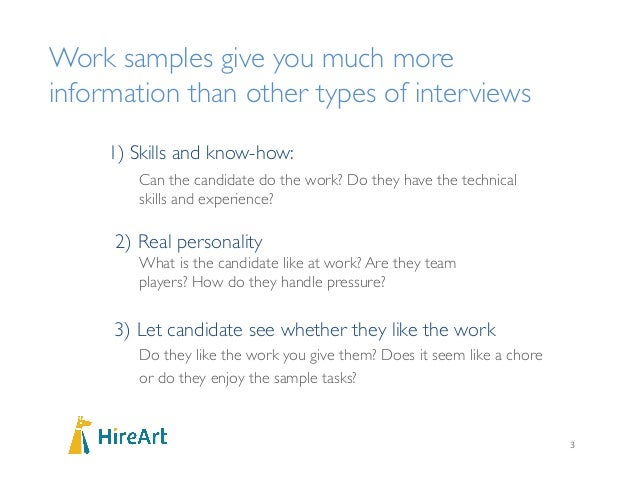samples of interview
