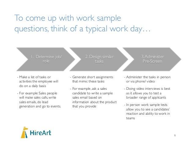 How to conduct work sample and case study interview