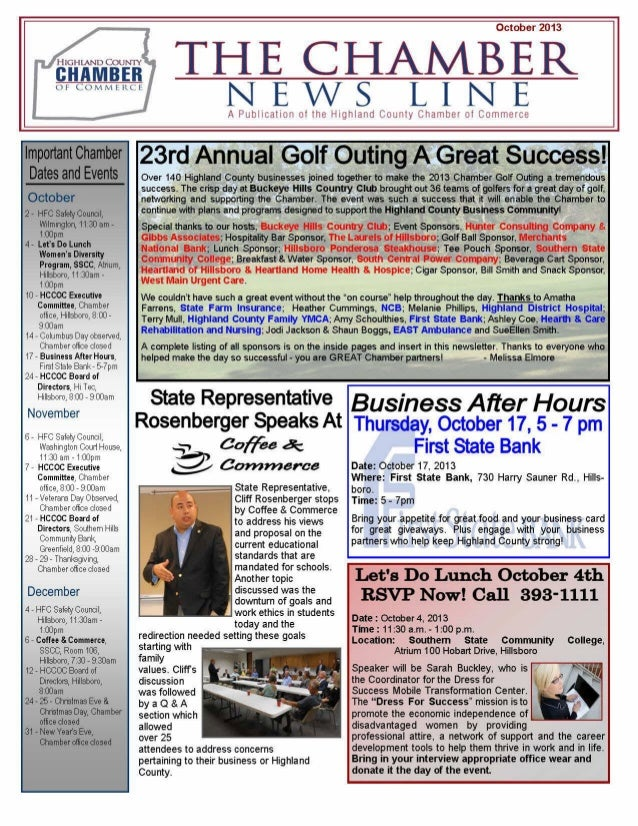 13.10.1 the chamber news line, highland county chamber of commerce   ag round table