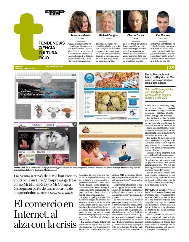 El comercio en internet (El Correo Gallego)