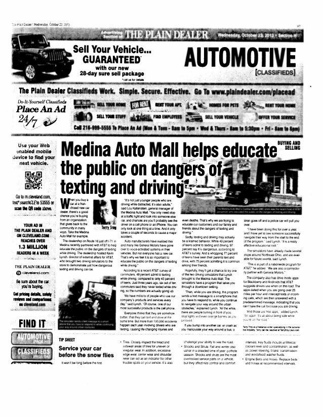 13.10.23 cleveland plain dealer   icw medina auto mall