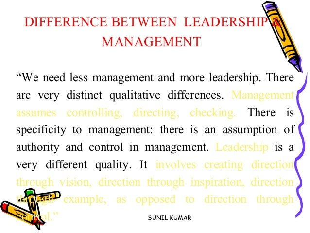 interdependencies between leadership and management