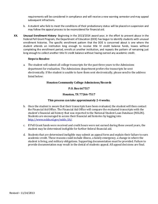 Will my financial aid appeal letter be approved for Academic probation letter template
