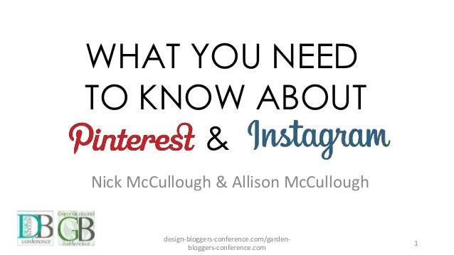 WHAT YOU NEED TO KNOW ABOUT & Nick McCullough & Allison McCullough design-bloggers-conference.com/garden- bloggers-confere...