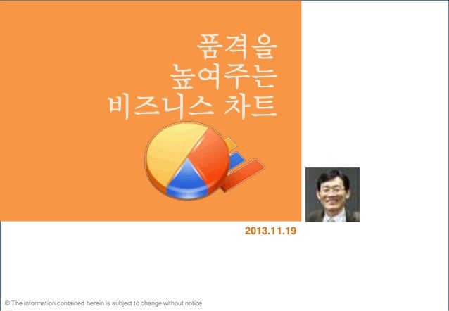 © The information contained herein is subject to change without notice 2013.11.19 품격을 높여주는 비즈니스 차트