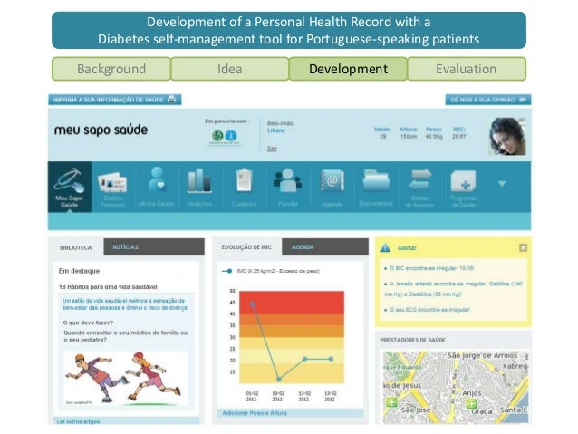 Development of a Personal Health Record with a Diabetes Self-manageme…