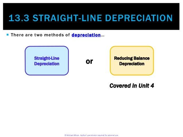 straight line depriciation