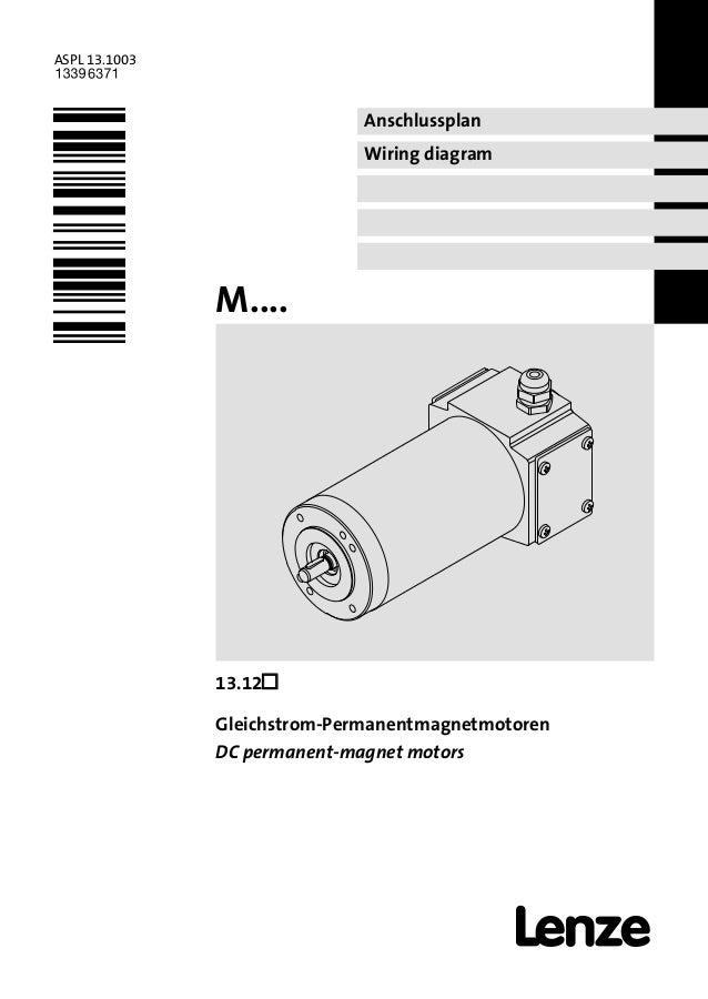 Anschlussplan Wiring diagram ASPL 13.1003 .Hòh Ä.H`hä M....  13.12 Gleichstrom-Permanentmagnetmotoren DC permanent-magne...