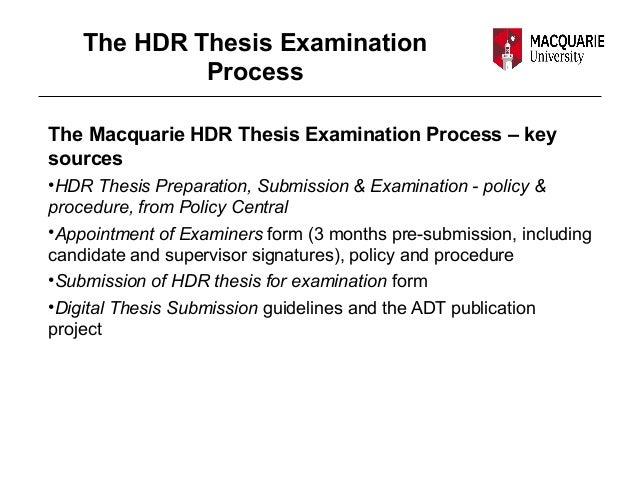 mq hdr thesis preparation