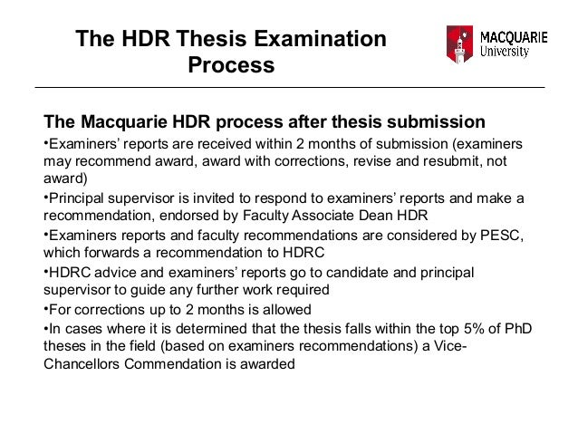 thesis examination process Thesis submission examination process funding  examination process web content viewer examination guidelines for research students.