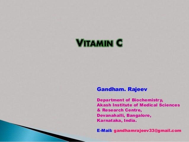 Vitamin c institute