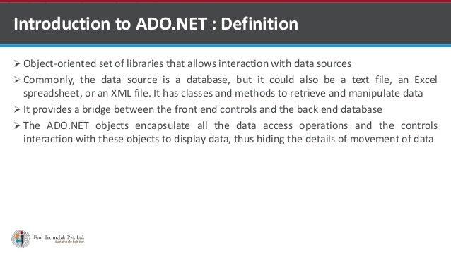 Ado Net By Asp Net Development Company In India