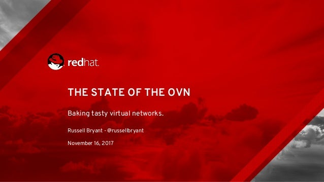 THE STATE OF THE OVN Baking tasty virtual networks. Russell Bryant - @russellbryant November 16, 2017