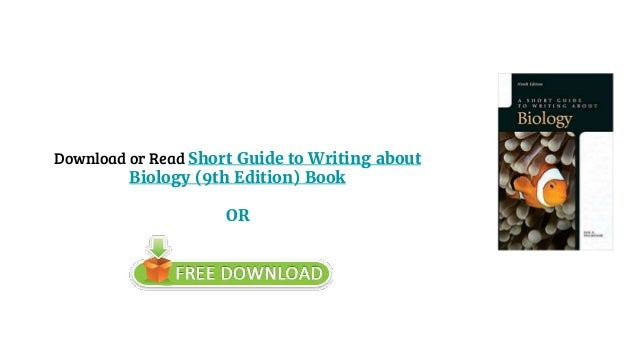 a short guide to writing about biology pdf