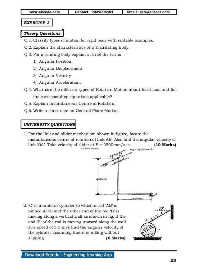 13  kinematics of rigid bodies