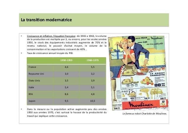 La  transi)on  modernatrice   • Croissance  et  inflaLon,  l'équaLon  française:  de  1946  a  1966,...