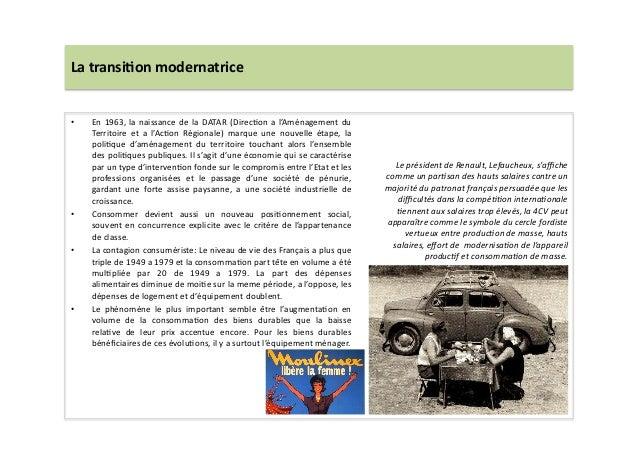 La  transi)on  modernatrice   • En  1963,  la  naissance  de  la  DATAR  (DirecLon  a  l'Aménagem...