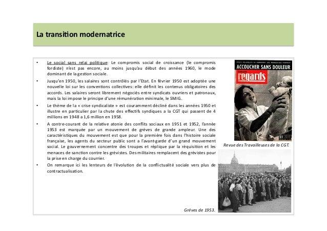 La  transi)on  modernatrice   • Le   social   sans   relai   poliLque:   Le   compromis   social   ...