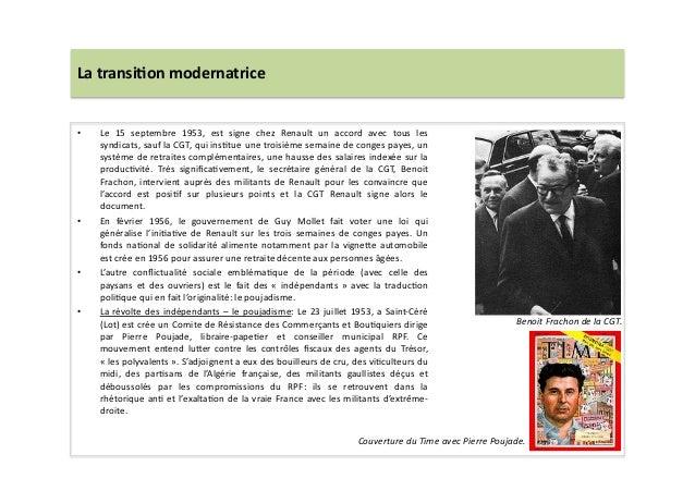 La  transi)on  modernatrice   • Le   15   septembre   1953,   est   signe   chez   Renault   un  ...