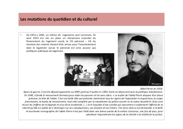Les  muta)ons  du  quo)dien  et  du  culturel   • De  1953  a  1963,  un  million  de     l...