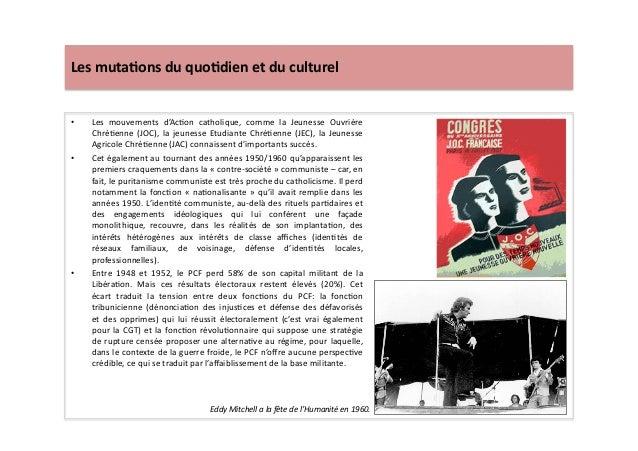 Les  muta)ons  du  quo)dien  et  du  culturel   • Les   mouvements   d'AcLon   catholique,   comme...