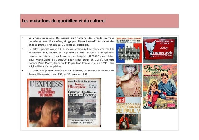 Les  muta)ons  du  quo)dien  et  du  culturel   • La   presse   populaire:   On   assiste   au  ...