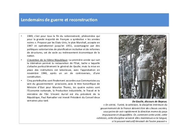 Lendemains  de  guerre  et  reconstruc)on   • 1949,   c'est   pour   tous   la   fin   du   raLonn...