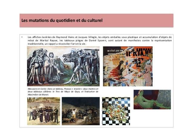 Les  muta)ons  du  quo)dien  et  du  culturel   • Les  affiches  lacérées  de  Raymond  Hains  et...