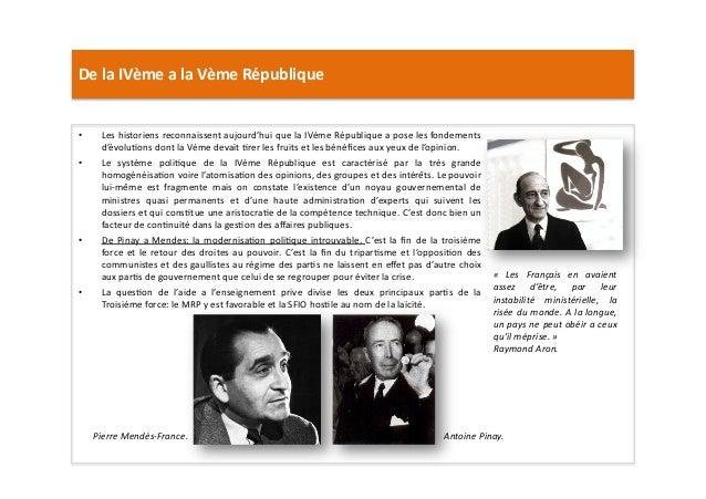 De  la  IVème  a  la  Vème  République   • Les  historiens  reconnaissent  aujourd'hui  que  la ...