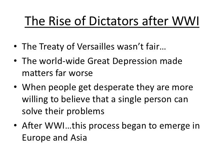 rise of dictators notes Freshmen world war ii notes rise of dictators: start of wwii matt flynn dictators rise to power - duration: 9:39.