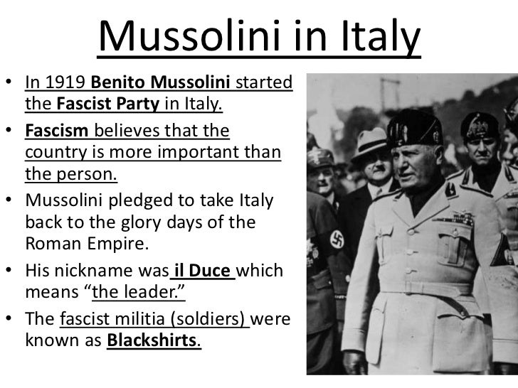 Image result for mussolini italian fascist party