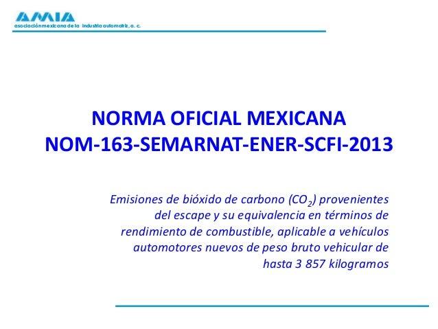 asociación mexicana de la industria automotriz, a. c.asociación mexicana de la industria automotriz, a. c. NORMA OFICIAL M...