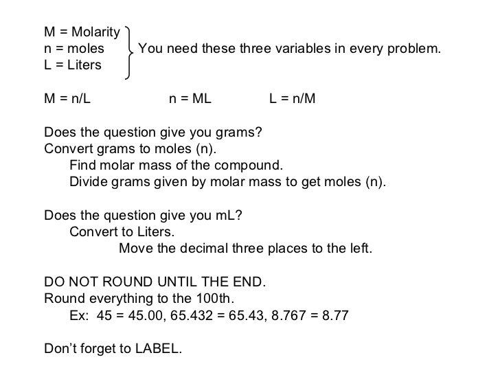 how to find molar concentration of ions given molarity