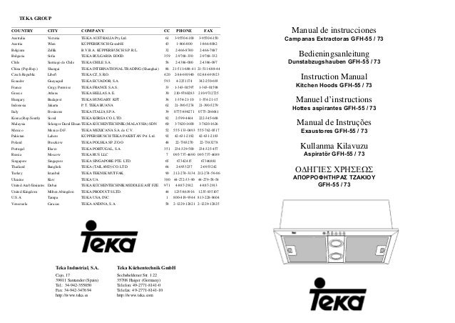 TEKA GROUP COUNTRY CITY COMPANY CC PHONE FAX Australia Victoria TEKA AUSTRALIA Pty.Ltd. 61 3-9550-6100 3-9550-6150 Austria...