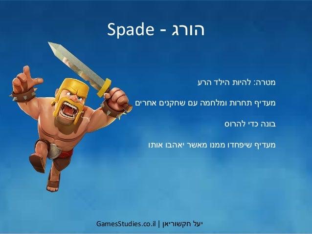 יעלחקשוריאן GamesStudies.co.il הורג-Spade מטרה:הרע הילד להיות אחרים שחקנים עם ומלחמה תחרות מעדיף...