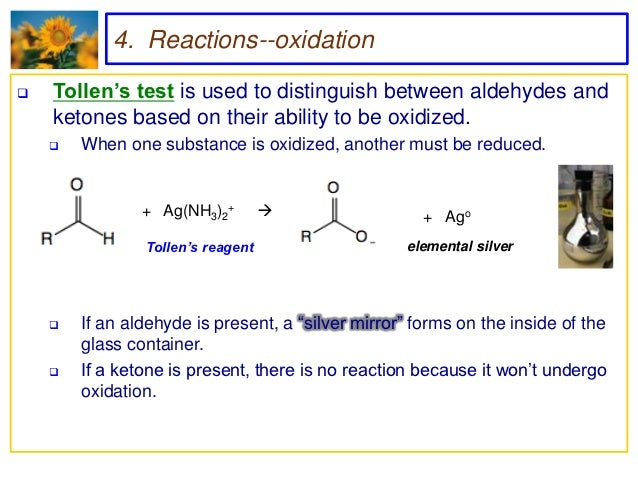 chemical test to distinguish between aldehydes and ketones Answer to there are several chemical classification tests that can discern the difference between aldehydes and ketones, and also.