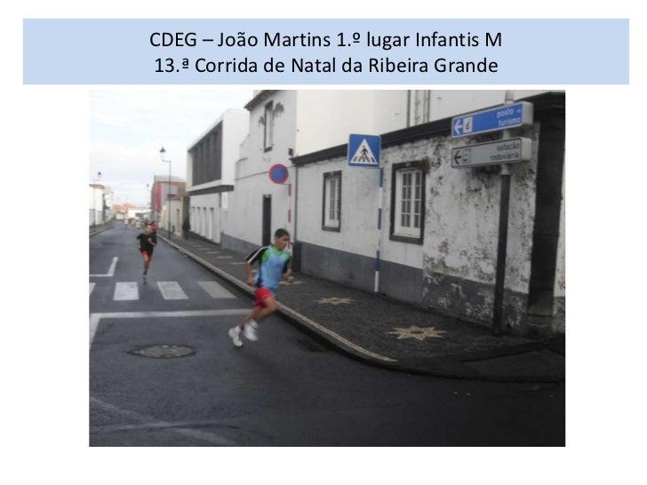 CDEG – João Martins 1.º lugar Infantis M13.ª Corrida de Natal da Ribeira Grande