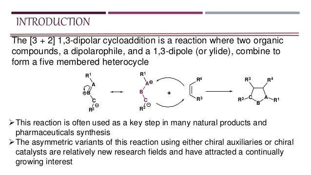preparation of diphenylisoxazoline by a dipolar cycloaddition Magnetite and had not been extensively prepared and studied the present   although the 1,3-dipolar cycloaddition of azide derivatives and alkynes  3,5- diphenylisoxazole (45a):248g white solid mp = 117-120 ºc.