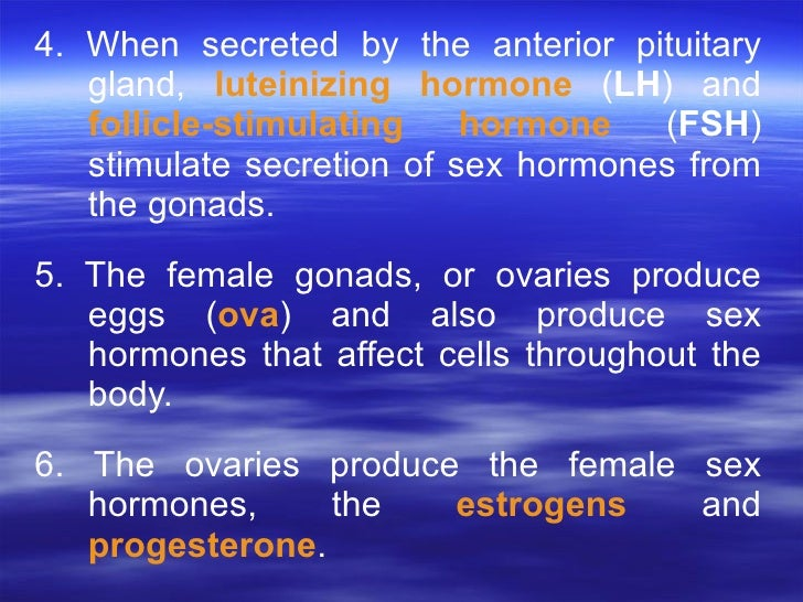 hormones that affect secondary sex characteristics of females in Warren