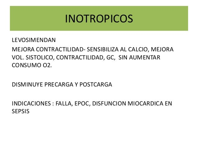 INDICACIONES DE LEVOSIMENDAN EPUB