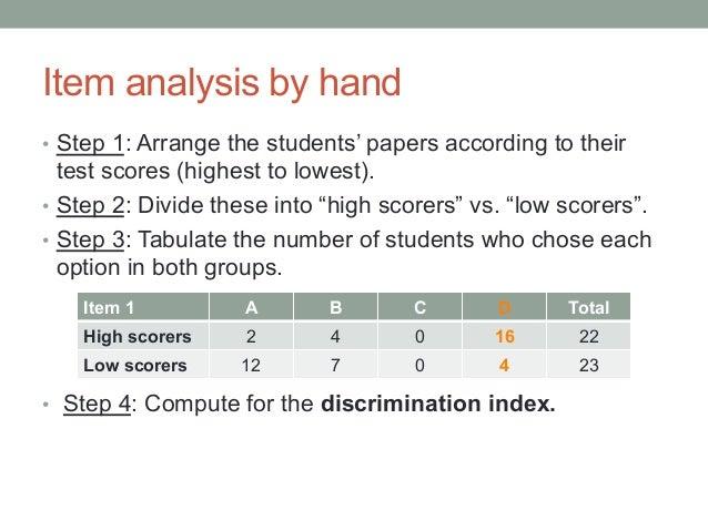 Item Analysis