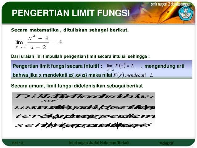 LIMIT FUNGSI  Slide 3
