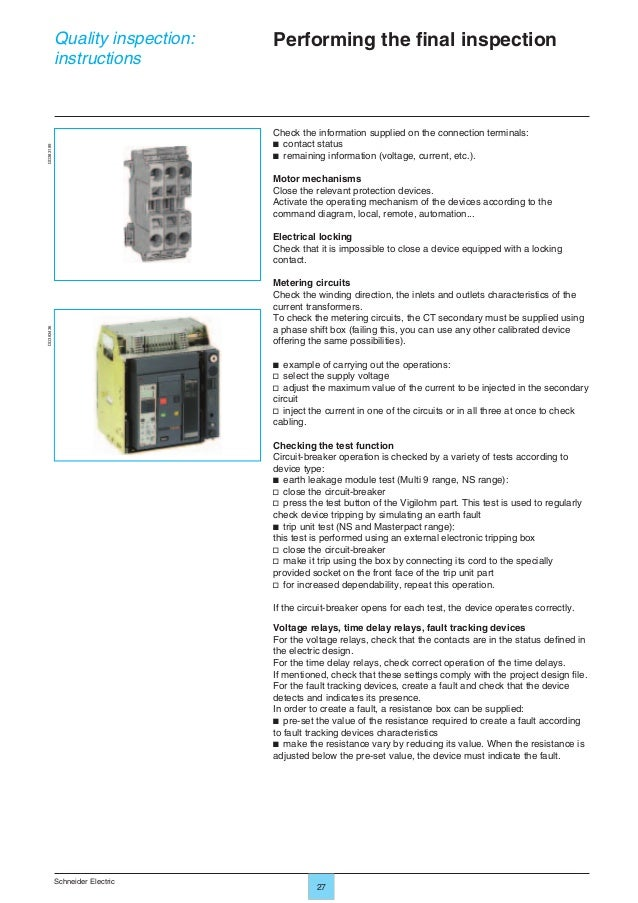13 lv switchboard inspection guide