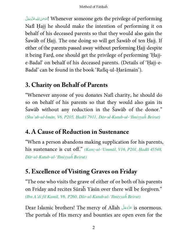 Method of Fatiha,