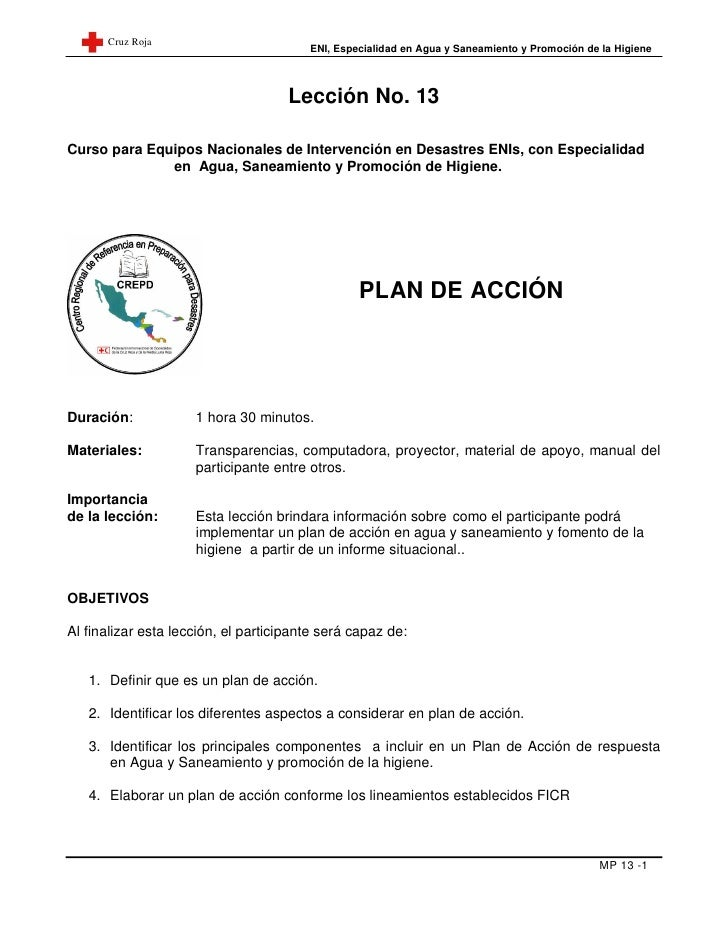 Cruz Roja                                        ENI, Especialidad en Agua y Saneamiento y Promoción de la Higiene        ...