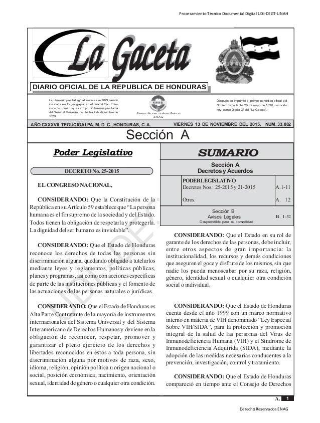 Reforma De La Ley Especial Del Vih Y Sida En Honduras