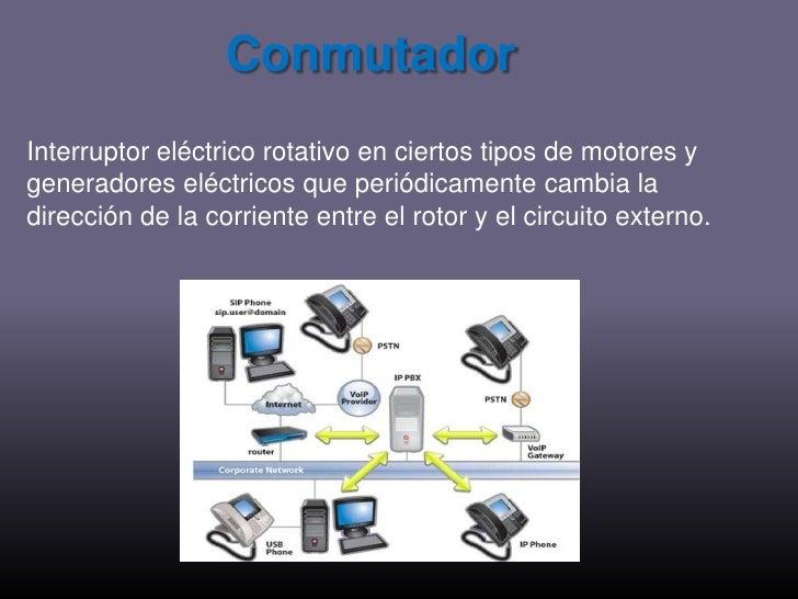 Conmutador<br />Interruptor eléctrico rotativo en ciertos tipos de motores y generadores eléctricos que periódicamente cam...