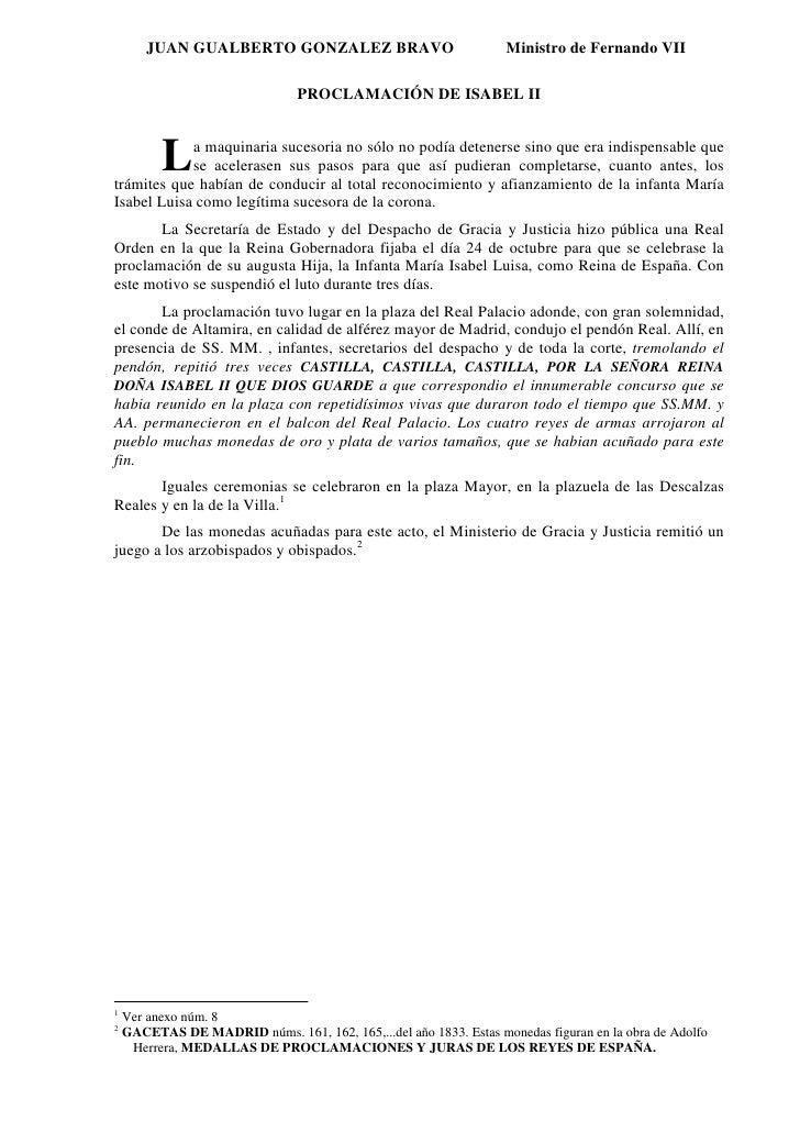 JUAN GUALBERTO GONZALEZ BRAVO                              Ministro de Fernando VII                                   PROC...