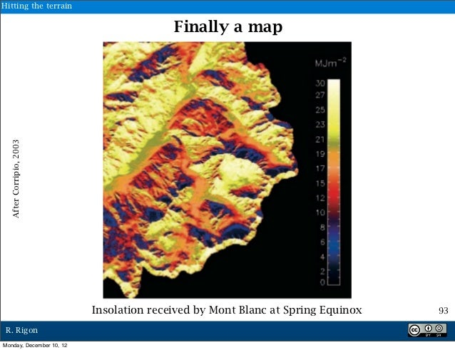 Hitting the terrain                                         Finally a map  After Corripio, 2003                          I...
